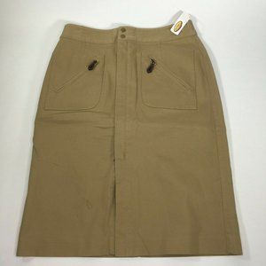 Talbots Skirt Khaki Womens Size 8 Stretch A-Lined